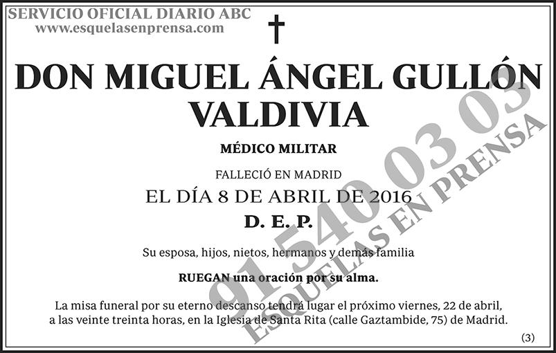 Miguel Ángel Gullón Valdivia